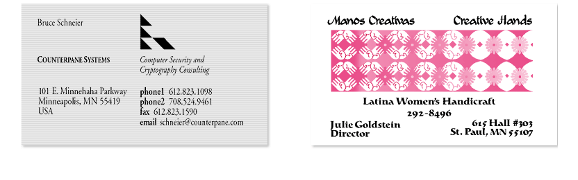 Logo designs by Nancy Wirsig McClure
